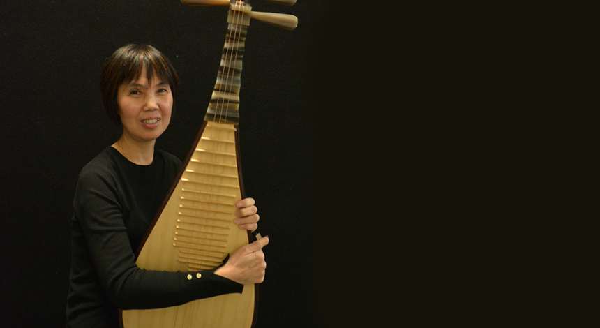 One of the Pipa teachers at Ping's Music School