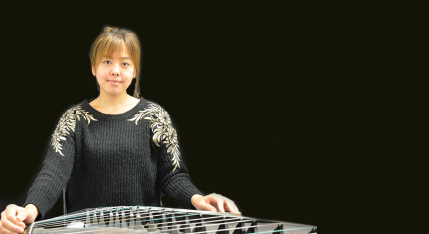One of the Guzheng teachers at Ping's Music School